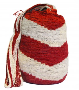 Multicolor Red Zigzag Patterns Kankuamo Bag