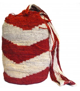 Red Zigzag Kankuamo Bag