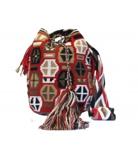 Complex Abstract Crochet Wayuu Shoulderbag