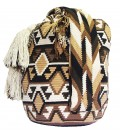 Complex Tribal Brown Patterns Wayuu Mochila Bag