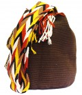 Plain Brown Wayuu Pattern Mochila Bag