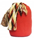 Guava Single Color Wayuu Mochila Colombian Shoulderbag