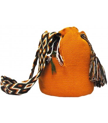 Plain Yellow Wayuu Mochila Bag