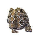 Earth Colors Multicolor Diamond Wayuu Pattern Bag
