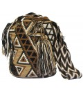 Earth Colors Multicolor Complex Triangular Wayuu Pattern Bag