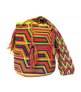 Mochila Wayuu Tribal Multicolor Patrones Crochet