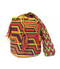 Tribal Multicolor Wayuu Crochet Patterns Shoulder Bag