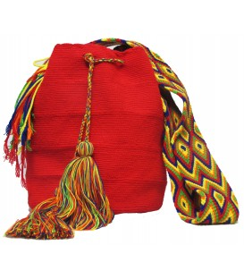 Barichara Colors Triangular Crochet Wayuu Pattern Mochila Bag