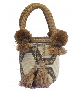 Brown Tote Multicolor Wayuu Bag