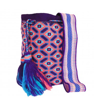 Hexagonal Neon Wayuu Pattern Bag