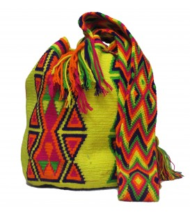 Yellow Tribal Multicolor Wayuu Pattern Bag