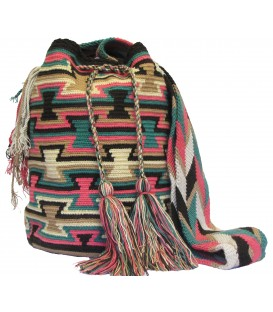 Blue-Red-Yellow-Orange Wayuu Wholesale Bags