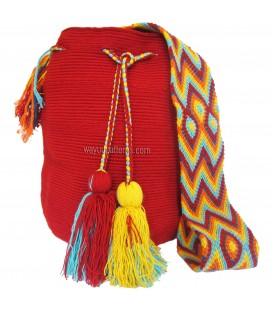 Red Wayuu Pattern Bags