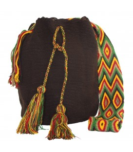 Dark Brown Wayuu Patterns Bags