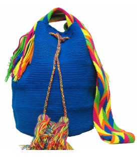 Electric Blue Wayuu Pattern Bags