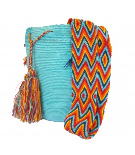 Turquoise Wayuu Wholesale Cotton Bags