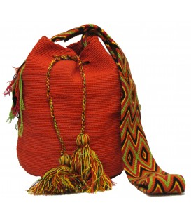 Dark Orange Wayuu Pattern Bags
