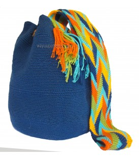 Azure Blue Wholesale Wayuu Pattern Bags