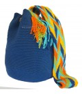 Azure Blue Single Color Wayuu Bags