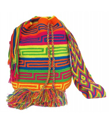 Thick Orthogonal Tribal Multicolor Wayuu Bag