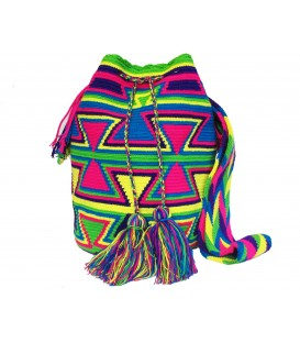 Triangular Arhuaco Tribal Multicolor Wayuu Bag