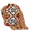 Barichara Colors Abstract Complex Crochet Wayuu Pattern Mochila Bag
