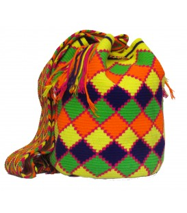 Complex RhombusTribal Multicolor Wayuu Bag