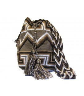 Earth Colors Complex Orthogonal Wayuu Pattern Bag
