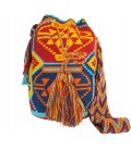 Blue/Red/Orange/Yellow Abstract Tribal Wayuu Pattern Bag