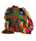 Tribal Multicolor Complex Clock Wayuu Bag