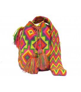 Pastel Colors Square Wayuu Pattern Mochila Bag