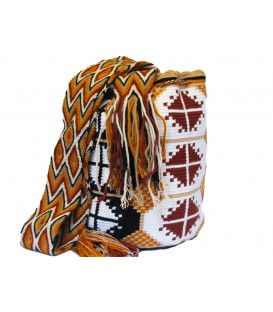 Barichara Colors Abstract Crochet Wayuu Pattern Mochila Bag