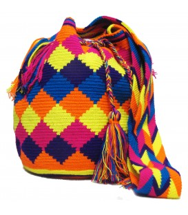 Multicolor Complex Rhombus Wayuu Pattern Bag