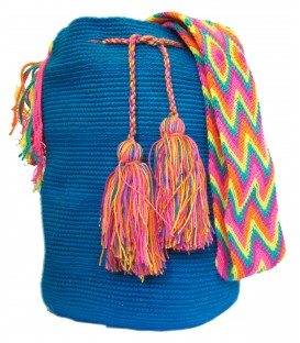 Electric Blue Wayuu Cotton Shoulderbag