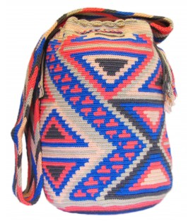 Mingled Triangular Pink Pattern Shoulderbag