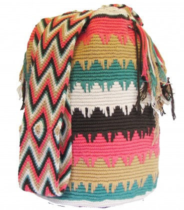 Complex Caqui Patterns Cotton Shoulderbag