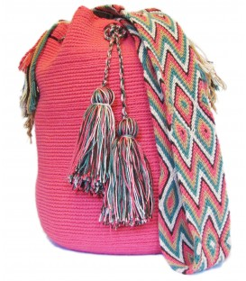 Pink Guayaba Patterns Cotton Shoulderbag