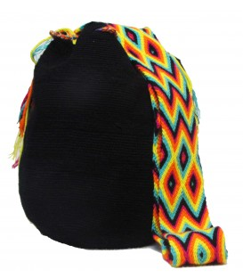 Black Wayuu Patterns Bags