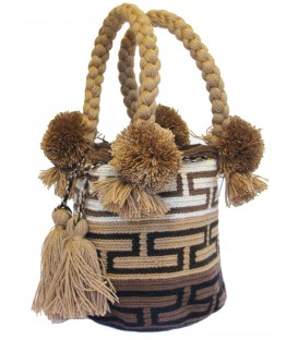 Multicolor Wayuu Tote Cotton Brown Bag