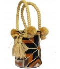 Orthogonal Pattern Tote Multicolor Wayuu Bag