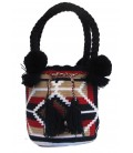 Black/White/Red Tote Multicolor Wayuu Bag
