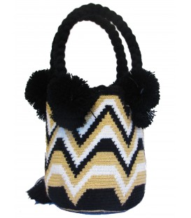 Black/White Tote Multicolor Wayuu Bag