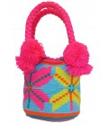 Flower Patter Tote Multicolor Wayuu Bag