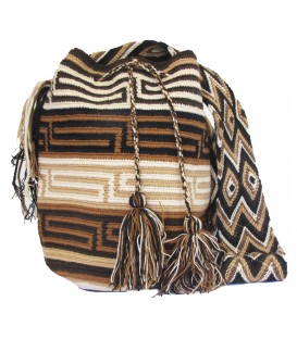 Earth Colors Multicolor Complex Orthogonal Wayuu Pattern Bag