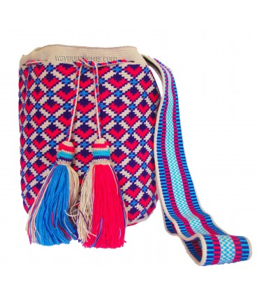 Multicolor Complex Neon Wayuu Pattern Bag