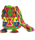 Triangular Crochet Pattern Tribal Multicolor Wayuu Bag