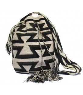 Arhuaco Brown Tones Triangular Crochet Wayuu Pattern Bag