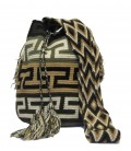 Earth Colors Crochet Complex Orthogonal Wayuu Pattern Bag