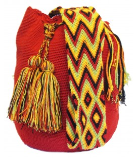 Red Wayuu Cotton Shoulderbag