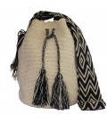 Caqui Colors Plain Crochet Wayuu Pattern Mochila Bag